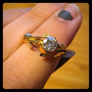 Nature Themed Moissanite Ring